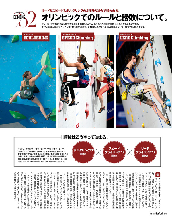 Athlete Safari Vol.20 フリークライミングとファッションについて。<br/>COVER:ルーカス・ポドルスキ